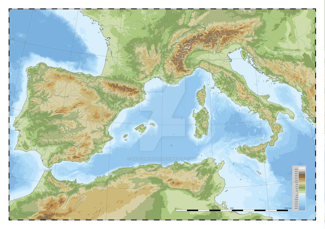 West Mediterranean physical by SalesWorlds