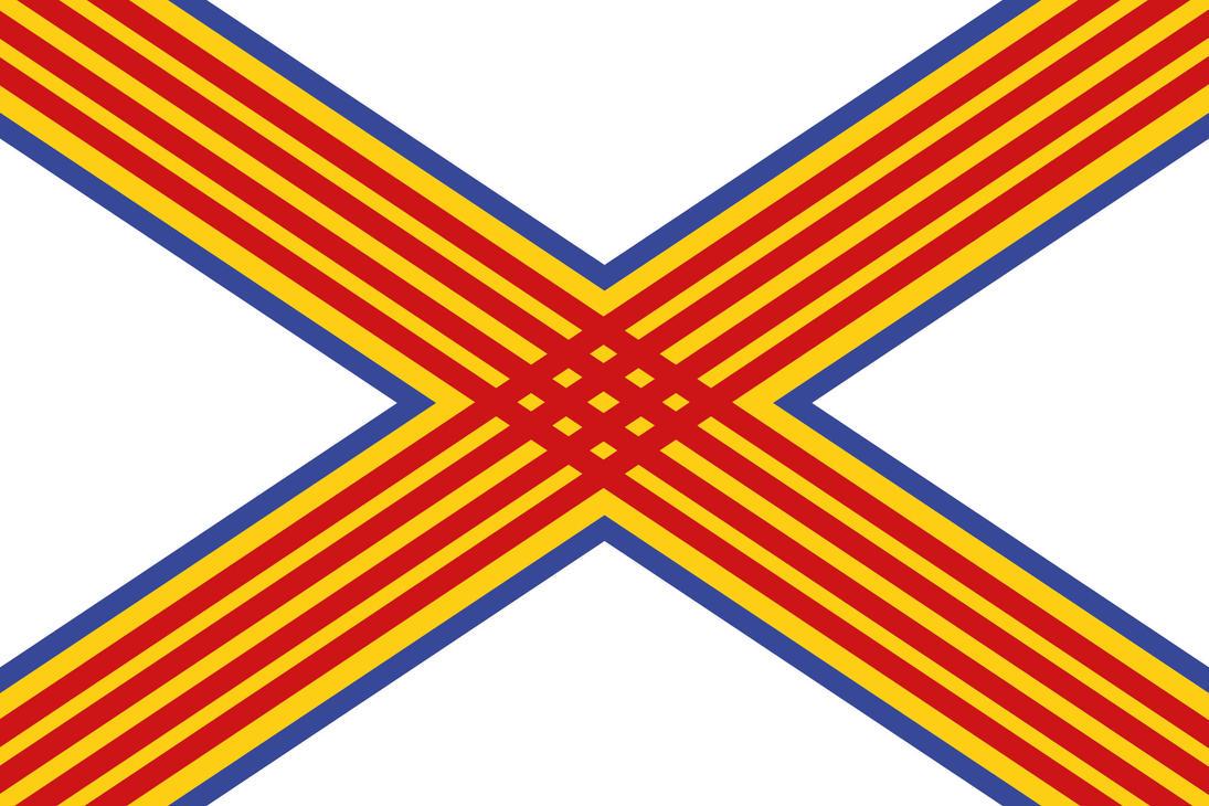 Mediterranean Kingdom flag without CoA by SalesWorlds