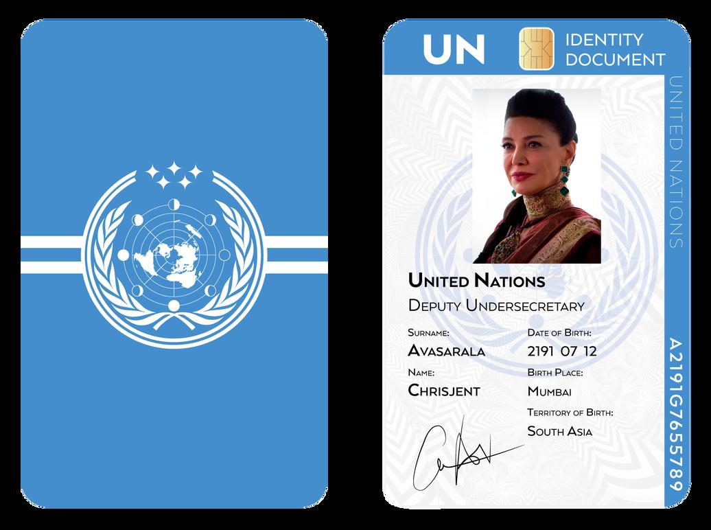 Chrisjen Avasarala UN Identity Document by SalesWorlds
