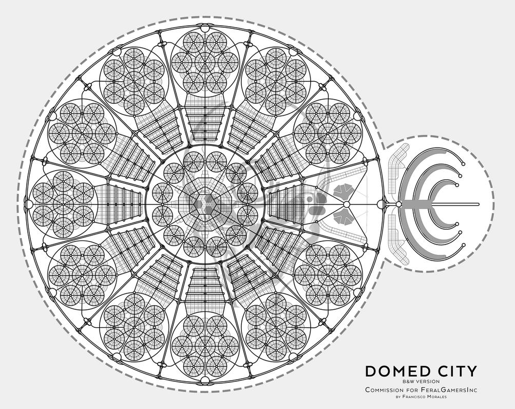 Domed City - Commision for FeralGamersInc by SalesWorlds