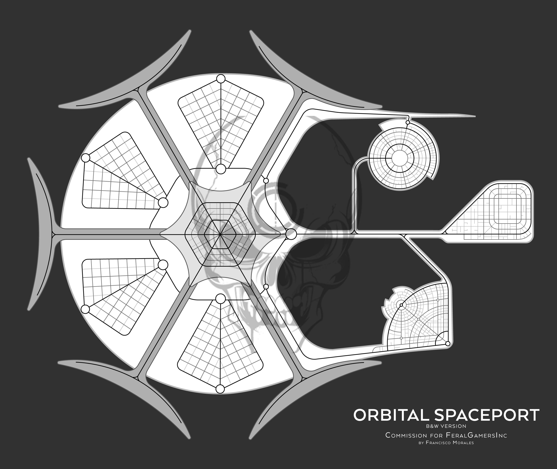 Orbital Spaceport - Commission for FeralGamersInc by SalesWorlds