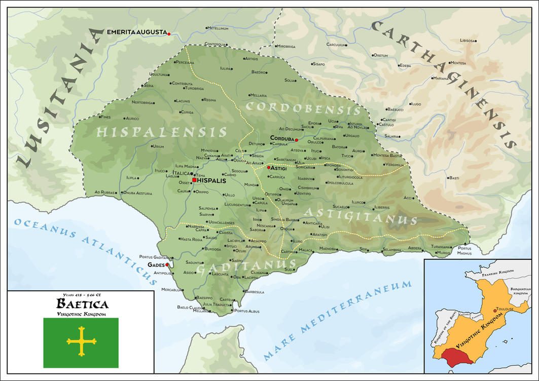 Province of Baetica - Visigothic Kingdom 418 - 546 by SalesWorlds