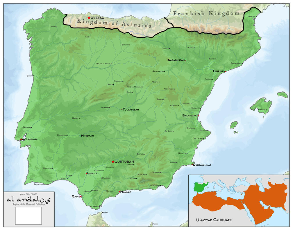 Al Andalus under Umayyad Caliphate 718 - 756 CE by SalesWorlds