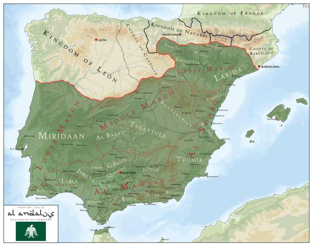 Al Andalus - Caliphate of Cordoba 929 - 1031 CE by SalesWorlds