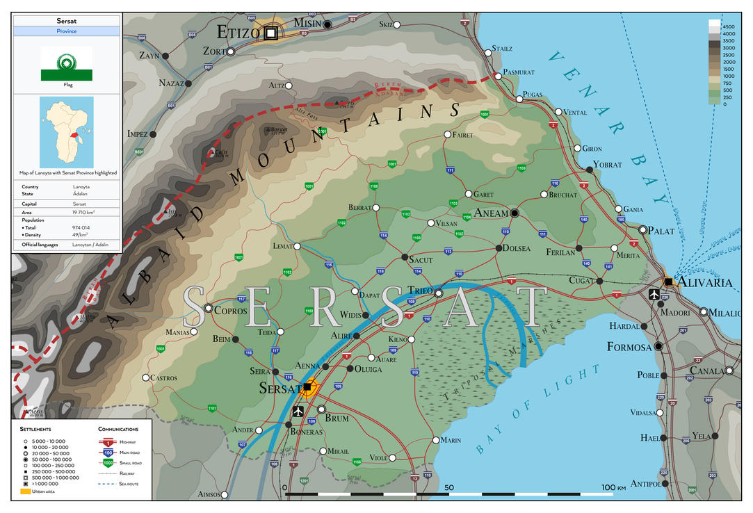 Sersat province - Lanoyta Atlas by SalesWorlds