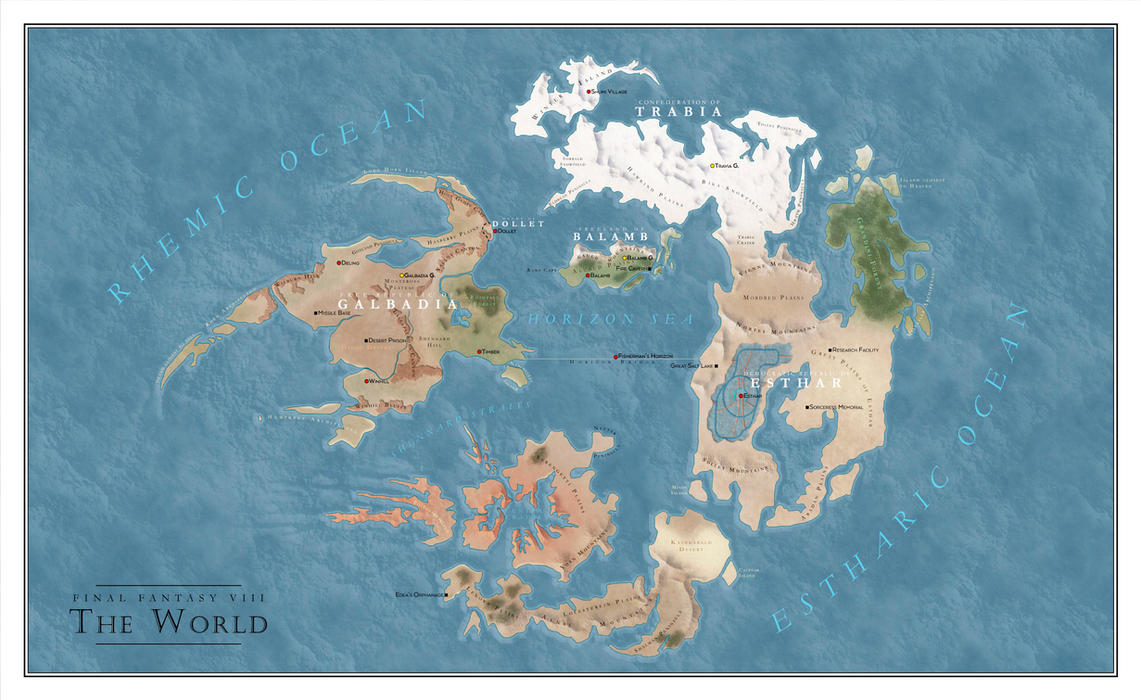 Final fantasy viii world map by salesworlds on deviantart final fantasy viii world map by salesworlds gumiabroncs Image collections