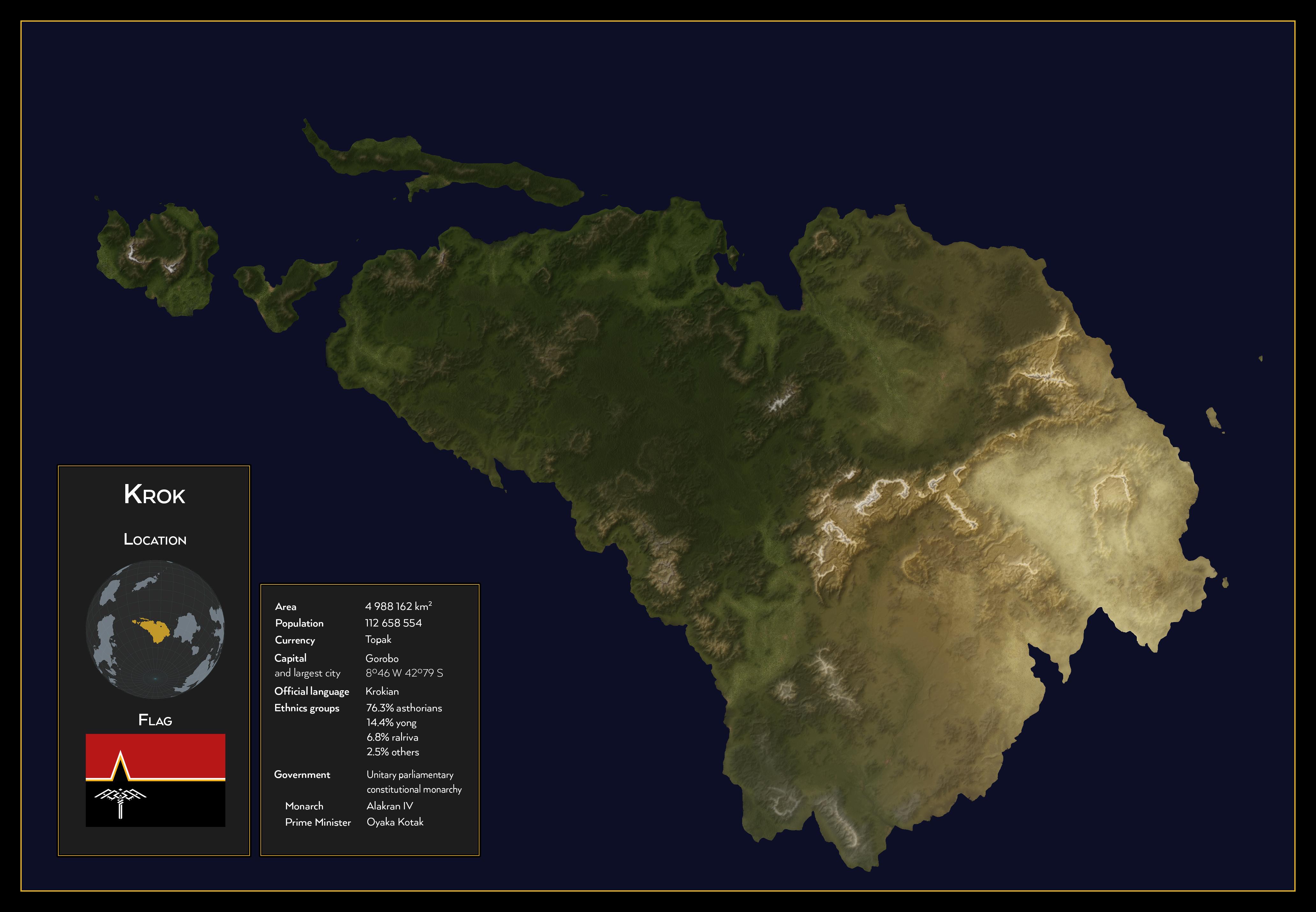 Krok satellite image - World of Evol by SalesWorlds