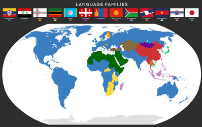 Language families map by SalesWorlds