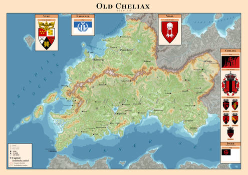 Old Cheliax map - Pathfinder