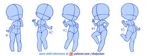 Chibi poses reference (chibi base set #3)