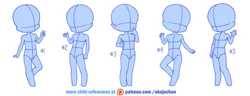 Chibi poses reference (chibi base set #9)