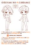 Chibi Pose Reference (Ultimate Chibi Base Set #6)