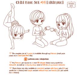 Chibi Pose Reference (Ultimate Chibi Base Set #14) by Nukababe