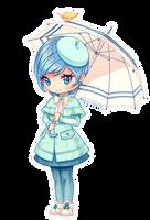 Girl with Umbrella [OC Nuka] by Nukababe