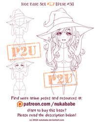 Female Pose Reference | P2U Base | Moe Reference
