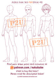 Male Pose Reference   Anime Base   P2U Base by Nukababe