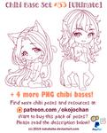 Chibi Pose Reference (Ultimate Chibi Base Set #53) by Nukababe