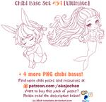 Chibi Pose Reference (Ultimate Chibi Base Set #54) by Nukababe