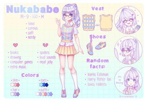 Nukababe Reference Sheet by Nukababe