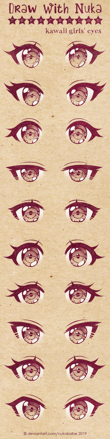 Anime Eyes Reference