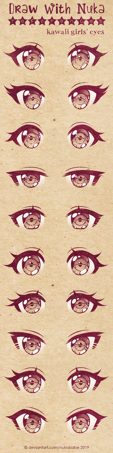 Anime Eyes Reference