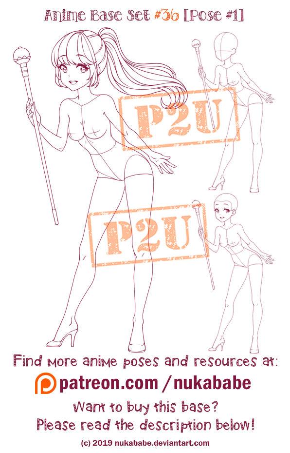 Female Pose Reference P2u Base Anime Base By Nukababe On Deviantart