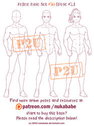 Male Pose Reference | Anime Base | P2U Base by Nukababe