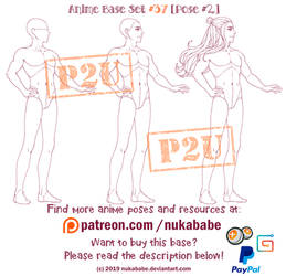Male Pose Reference | P2U Base | Male Base by Nukababe