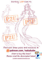 Male Mermaid Base | Female Base | P2U Base by Nukababe