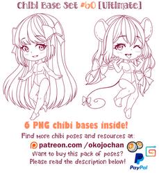 Chibi Pose Reference (Ultimate Chibi Base Set #60) by Nukababe