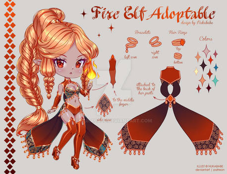 [CLOSED] Fire Elf Adoptable Auction