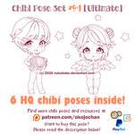 Chibi Pose Reference | Chibi Base | $4 | 400 pt by Nukababe