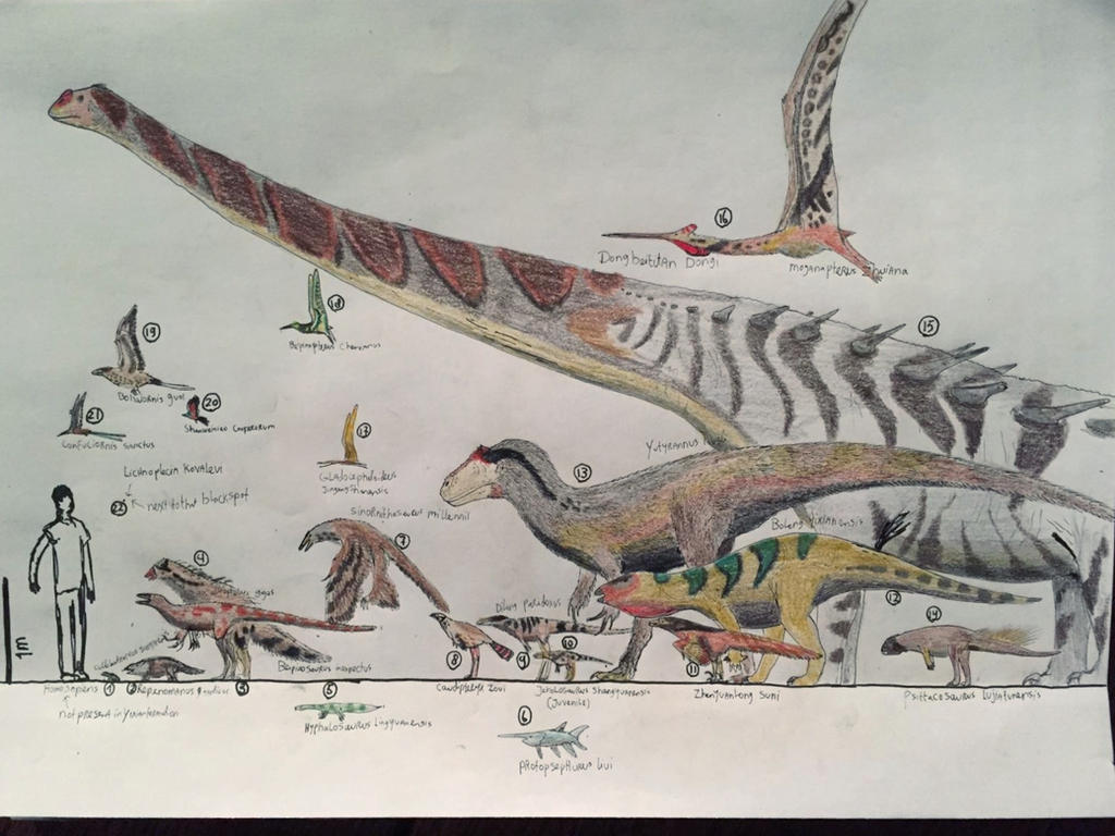 The Yixian formation biota by paleosir