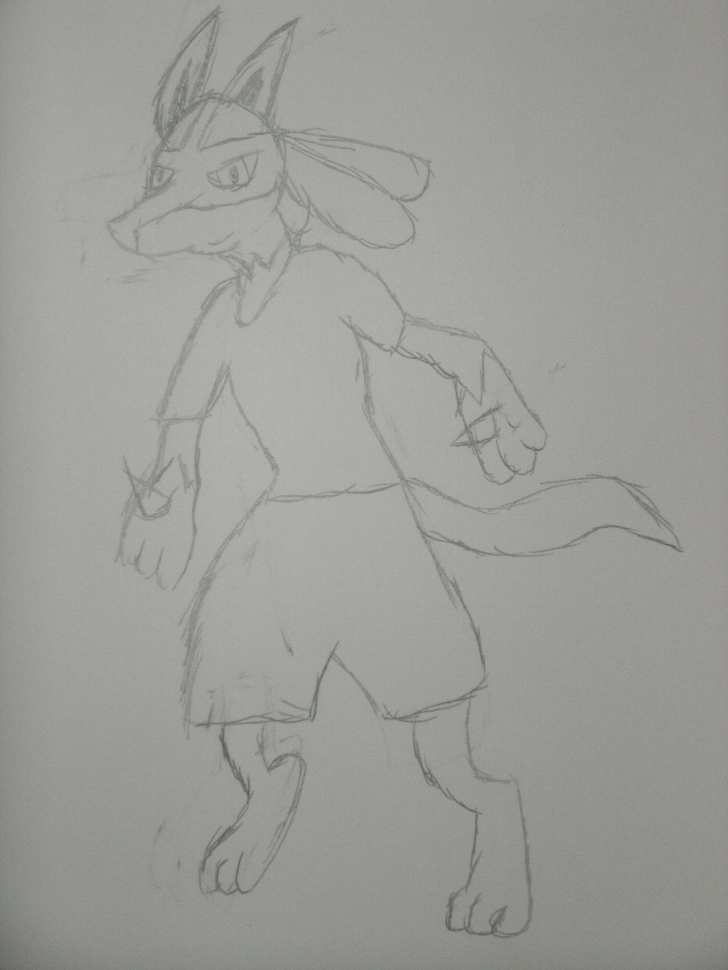 Anubis the lucario- request darksceptile3333 by leafpool12