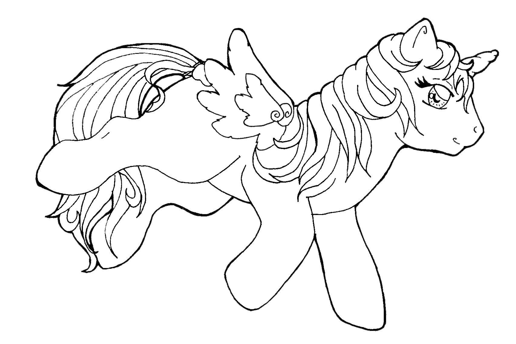 My little pony mermaid coloring pages -  Coloring Pages Animal My Little Pony Lineart Uni By Sweets B On Deviantart