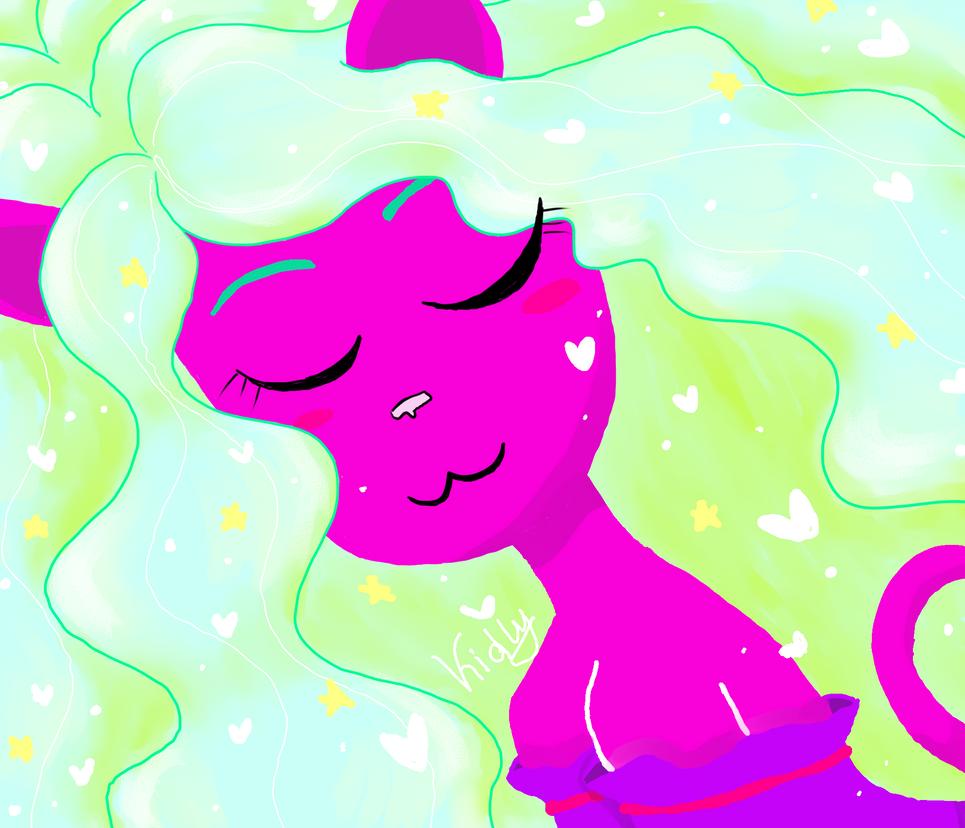 Neko Purple love by Y-a-m-i-k-o