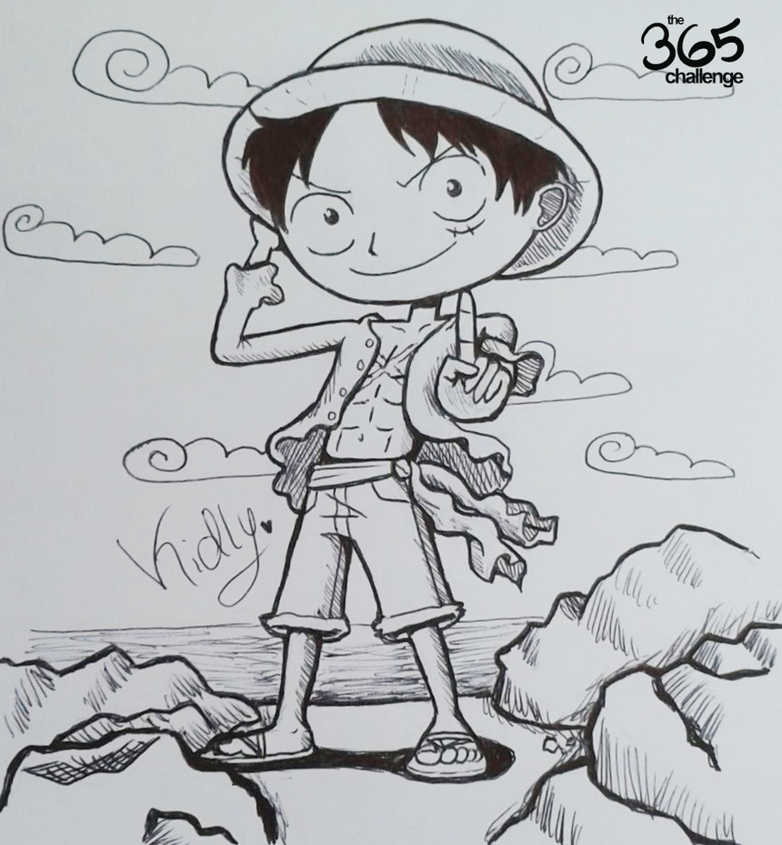 Monkey D. Luffy by Y-a-m-i-k-o