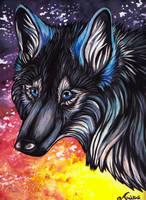 Mystic the enchanting Wolfess by Arahkas