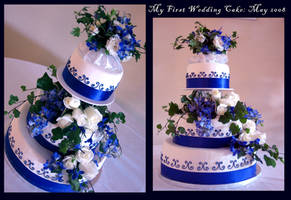 my first wedding cake by greensprout