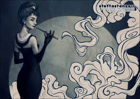 audrey hepburn by StefTastan