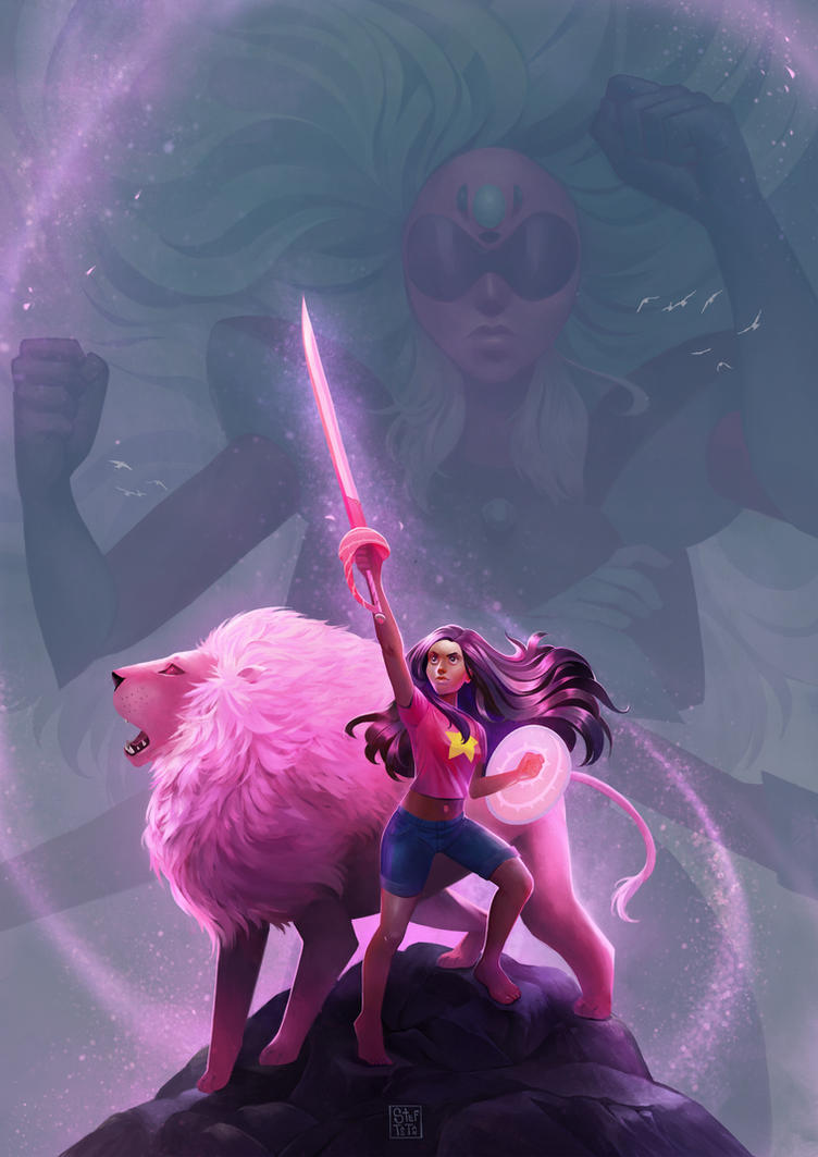 Alexandrite, Lion and Stevonnie