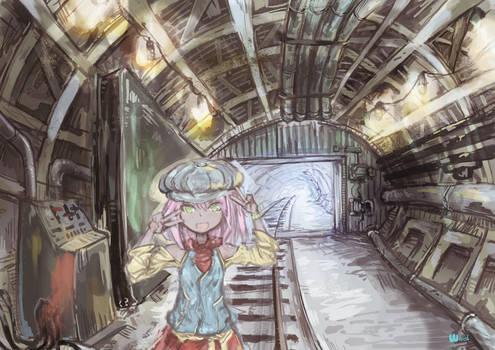 in somewhere underground