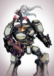 Soldier atacks the Armored Core
