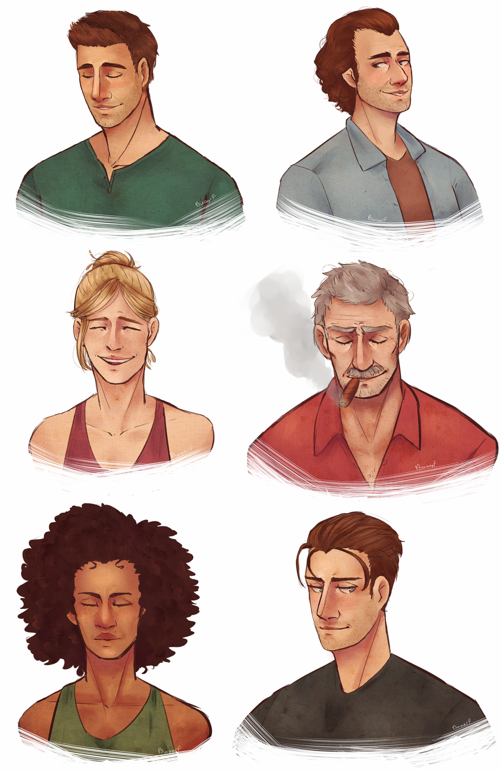 Uncharted Characters ! by Bwaarf on DeviantArt
