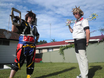 Set For Battle - Sora and Roxas