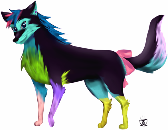 Rainbow Wolf By ScarletRose657 On DeviantArt