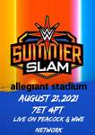 WWE SUMMERSLAM 2021 CUSTOM POSTER