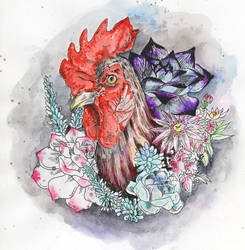 Year of the Rooster by angeldevilland