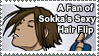 Sokka's Sexy Hair Flip Stamp by ChibiAngel86