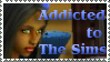 Addicted to The Sims Stamp by ChibiAngel86